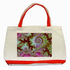 Raspberry Lime Delight, Abstract Ferris Wheel Classic Tote Bag (Red)