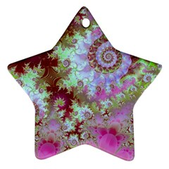 Raspberry Lime Delight, Abstract Ferris Wheel Star Ornament (Two Sides)