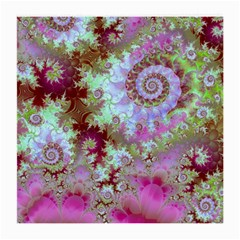 Raspberry Lime Delight, Abstract Ferris Wheel Glasses Cloth (Medium, Two Sides)