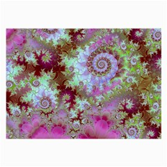 Raspberry Lime Delight, Abstract Ferris Wheel Glasses Cloth (Large, Two Sides)