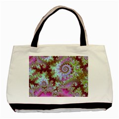 Raspberry Lime Delight, Abstract Ferris Wheel Classic Tote Bag (Two Sides)