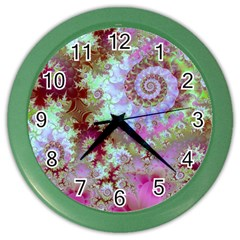 Raspberry Lime Delight, Abstract Ferris Wheel Color Wall Clock