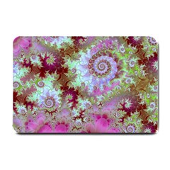 Raspberry Lime Delight, Abstract Ferris Wheel Small Doormat