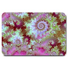 Raspberry Lime Delight, Abstract Ferris Wheel Large Doormat