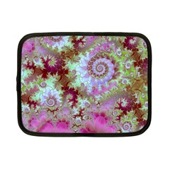 Raspberry Lime Delight, Abstract Ferris Wheel Netbook Case (small)