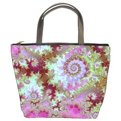 Raspberry Lime Delight, Abstract Ferris Wheel Bucket Bag