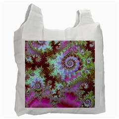 Raspberry Lime Delight, Abstract Ferris Wheel Recycle Bag (One Side)