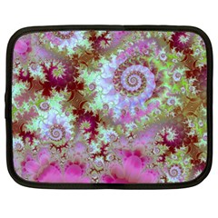 Raspberry Lime Delight, Abstract Ferris Wheel Netbook Case (xl)