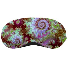 Raspberry Lime Delight, Abstract Ferris Wheel Sleeping Mask