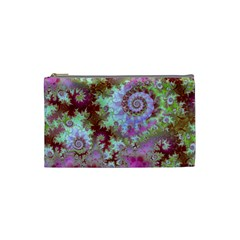 Raspberry Lime Delight, Abstract Ferris Wheel Cosmetic Bag (small)