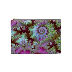 Raspberry Lime Delight, Abstract Ferris Wheel Cosmetic Bag (Medium)