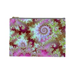 Raspberry Lime Delight, Abstract Ferris Wheel Cosmetic Bag (large)