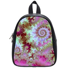 Raspberry Lime Delight, Abstract Ferris Wheel School Bag (Small)