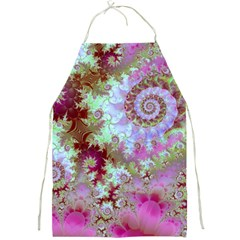 Raspberry Lime Delight, Abstract Ferris Wheel Full Print Apron