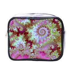 Raspberry Lime Delight, Abstract Ferris Wheel Mini Toiletries Bag (one Side)