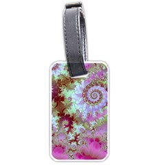 Raspberry Lime Delight, Abstract Ferris Wheel Luggage Tag (one side)