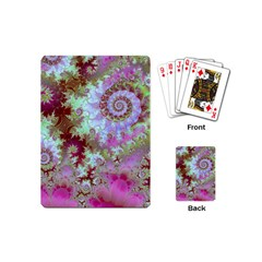 Raspberry Lime Delight, Abstract Ferris Wheel Playing Cards (Mini)
