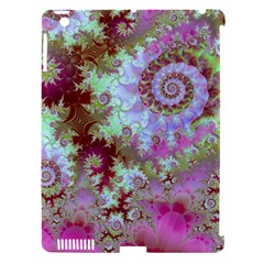 Raspberry Lime Delight, Abstract Ferris Wheel Apple iPad 3/4 Hardshell Case (Compatible with Smart Cover)