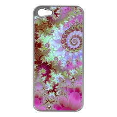Raspberry Lime Delight, Abstract Ferris Wheel Apple iPhone 5 Case (Silver)