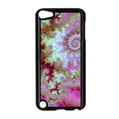 Raspberry Lime Delight, Abstract Ferris Wheel Apple iPod Touch 5 Case (Black)