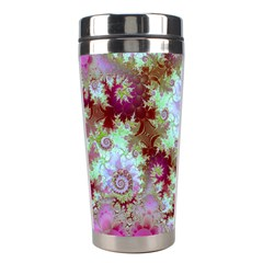 Raspberry Lime Delight, Abstract Ferris Wheel Stainless Steel Travel Tumbler