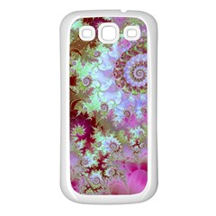 Raspberry Lime Delight, Abstract Ferris Wheel Samsung Galaxy S3 Back Case (white)