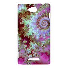 Raspberry Lime Delight, Abstract Ferris Wheel Sony Xperia C (S39H) Hardshell Case