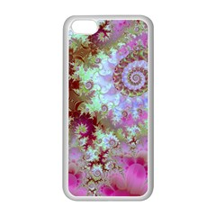 Raspberry Lime Delight, Abstract Ferris Wheel Apple iPhone 5C Seamless Case (White)