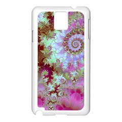 Raspberry Lime Delight, Abstract Ferris Wheel Samsung Galaxy Note 3 N9005 Case (White)