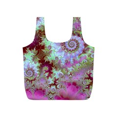 Raspberry Lime Delight, Abstract Ferris Wheel Full Print Recycle Bag (S)