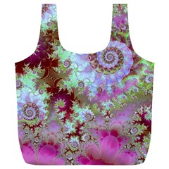 Raspberry Lime Delight, Abstract Ferris Wheel Full Print Recycle Bag (XL)