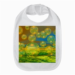 Golden Days, Abstract Yellow Azure Tranquility Bib