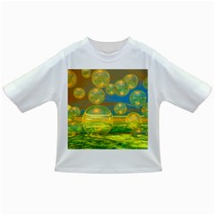 Golden Days, Abstract Yellow Azure Tranquility Baby T-shirt