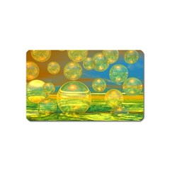 Golden Days, Abstract Yellow Azure Tranquility Magnet (name Card)