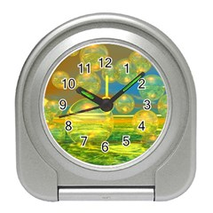 Golden Days, Abstract Yellow Azure Tranquility Desk Alarm Clock