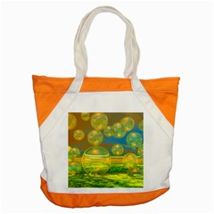 Golden Days, Abstract Yellow Azure Tranquility Accent Tote Bag