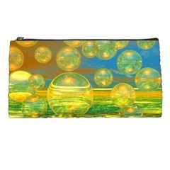Golden Days, Abstract Yellow Azure Tranquility Pencil Case