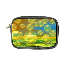 Golden Days, Abstract Yellow Azure Tranquility Coin Purse