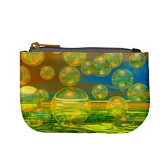 Golden Days, Abstract Yellow Azure Tranquility Coin Change Purse