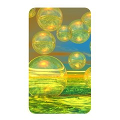 Golden Days, Abstract Yellow Azure Tranquility Memory Card Reader (rectangular)