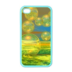 Golden Days, Abstract Yellow Azure Tranquility Apple Iphone 4 Case (color)