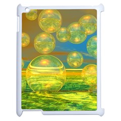 Golden Days, Abstract Yellow Azure Tranquility Apple iPad 2 Case (White)