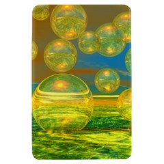 Golden Days, Abstract Yellow Azure Tranquility Kindle Fire (1st Gen 2011) Hardshell Case
