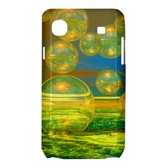 Golden Days, Abstract Yellow Azure Tranquility Samsung Galaxy SL i9003 Hardshell Case