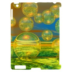 Golden Days, Abstract Yellow Azure Tranquility Apple iPad 2 Hardshell Case (Compatible with Smart Cover)