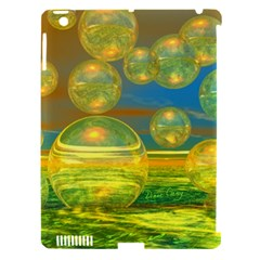 Golden Days, Abstract Yellow Azure Tranquility Apple Ipad 3/4 Hardshell Case (compatible With Smart Cover)