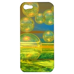 Golden Days, Abstract Yellow Azure Tranquility Apple Iphone 5 Hardshell Case