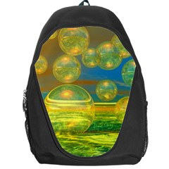 Golden Days, Abstract Yellow Azure Tranquility Backpack Bag