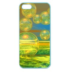 Golden Days, Abstract Yellow Azure Tranquility Apple Seamless Iphone 5 Case (color)