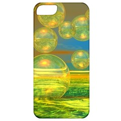 Golden Days, Abstract Yellow Azure Tranquility Apple Iphone 5 Classic Hardshell Case